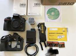 Nikon D D810 36.3MP Digital SLR Camera - Black (Body Only) for sale