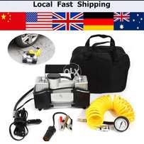 9+Double Cylinder Car Air Pump Tyre Inflator Product Details Double Cy