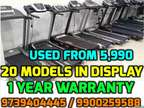 1 YEAR WARRANTY Used TREADMILLS in new condition, 20 MODELS, Delivery