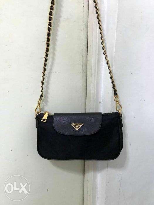 f47f4fa156 Prada Black nylon cross body bag in Quezon City