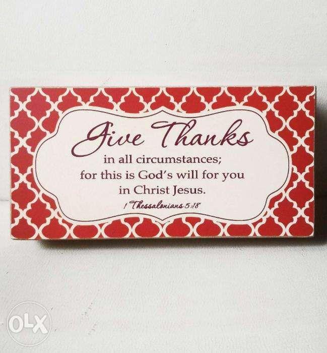 Give Thanks Wooden Box Decor in Cebu City, Cebu | OLX.ph on