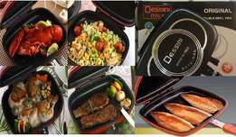 Double Sided Grill Pan BBQ Barbecue Gas Dessini Italy Free Recipie