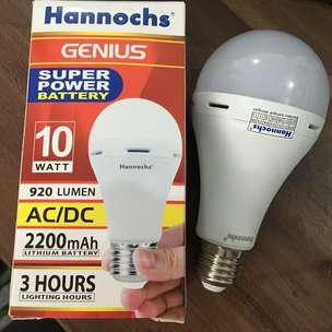 Lampu LED Hannochs Genius Emergency 10 Watt Nyala Sendiri