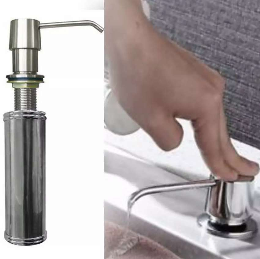 Kitchen Soap Dispenser Sink Mounted Stainless Steel Accessories