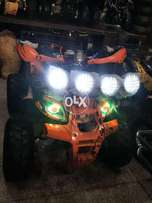 Luxury and Comfortable with fog lights 125 cc atv 4 wheel quad 4 sell.