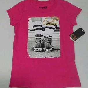 baju anak pink converse size 4 sd 5 years old