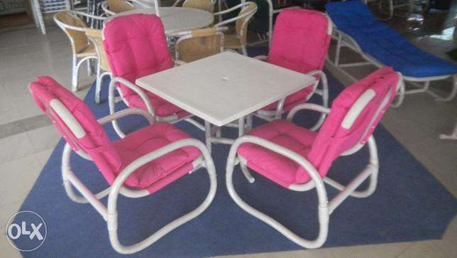 Rest cahri table chair set in new looks beautiful PVC