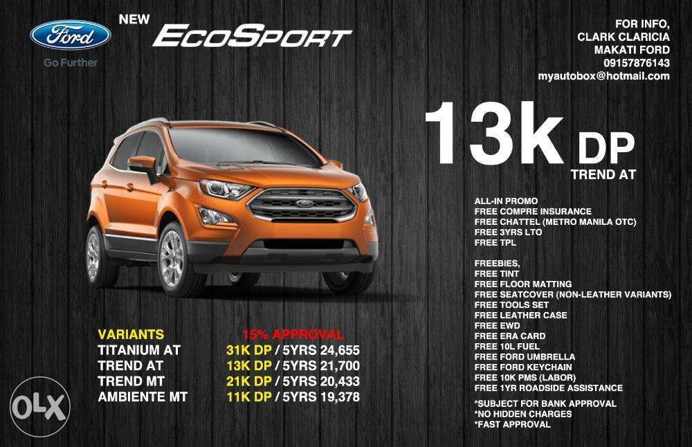 2018 New Ford Ecosport All In Promo Downpayment In Makati Metro