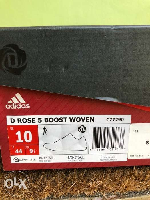 f92ca982540d ... Adidas D Rose 5 Boost Woven Red White Basketball Shoes Sz 10 with Box