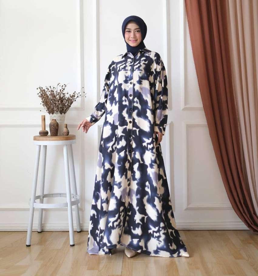 Gamis Bahan Katun Rayon Garmen Fashion Wanita 808180269