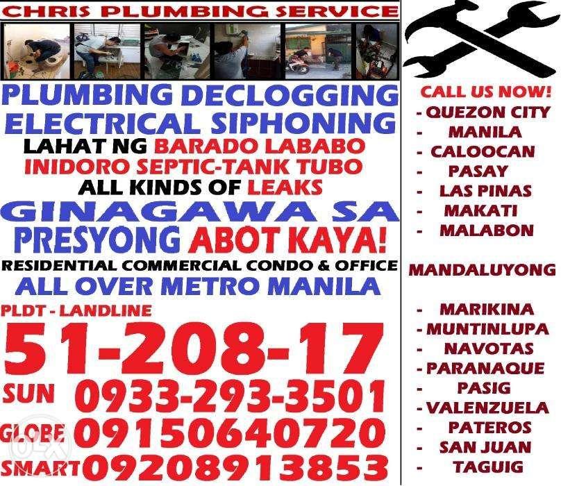 Plumbing Tubero Services Declogging Electrical 24 7 Open