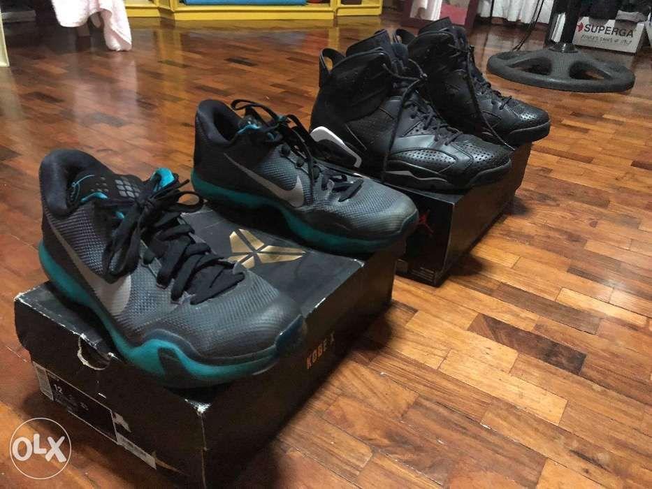 f279f7bc055 J6 black cat size 11 and kobe X Liberty size 12 in Tanauan City ...