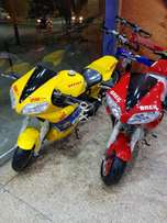 50cc double exhaust heavy bikes self and kick fuel engine