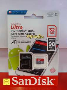 SanDisk ultra micro sd 32GB speed up to 98mb/s