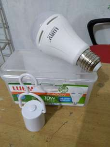 deliv/antar bohlam emergency luby 10watt lampu led