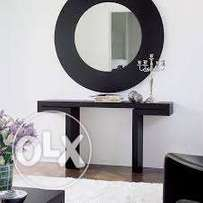 LALBAY Estire Console with round mirror frame