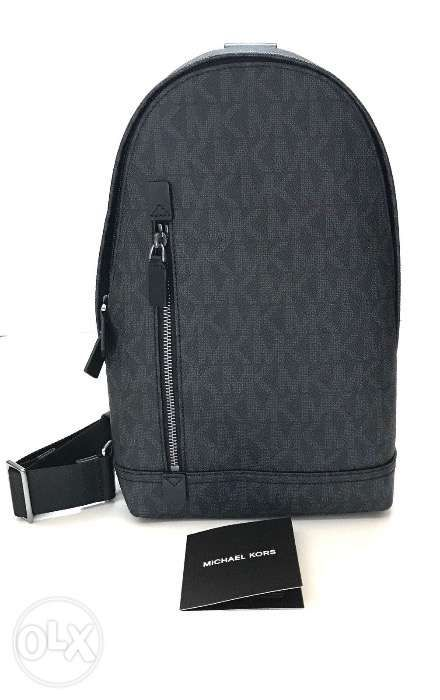 1a676bc03ec5 AUTHENTIC NEW Michael Kors Jet Set Slingpack Backpack Signature Black ...