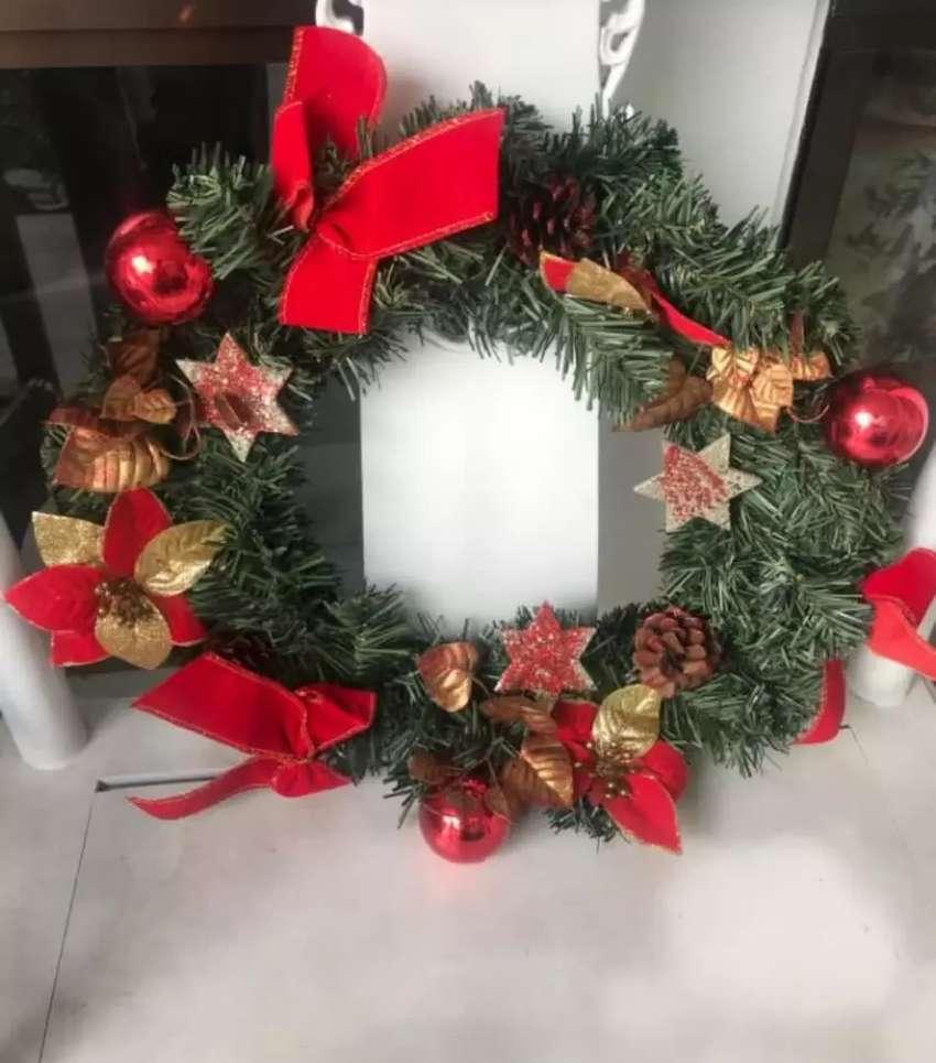 Hiasan Dinding Pintu Besar Natal Gantung Ring 45cm By