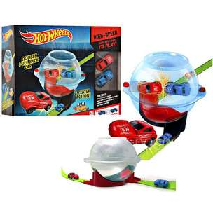 Track Hotwheels Double Pull Back Mobil Mainan