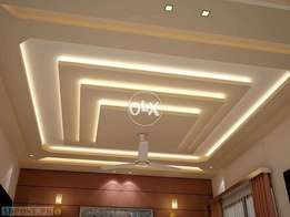 we are specialized in doing all kinds of false ceiling works and wall