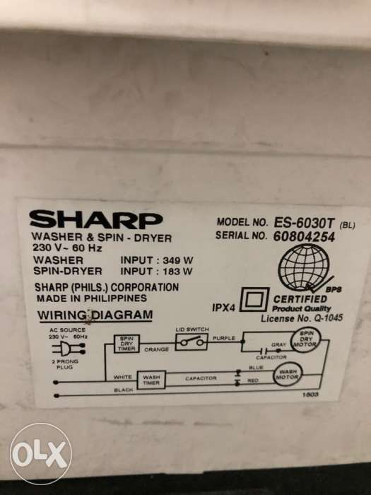 sharp gigawash 6kg twin tub washing machine with dryer in manila
