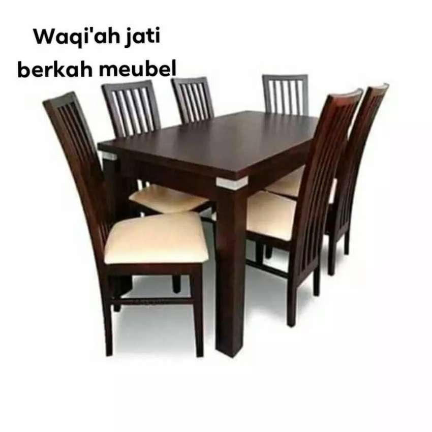 Meja Makan Minimalis Modern Kursi 6 Bahan Kayu Jati Tua Terbaik Mebel 802867720
