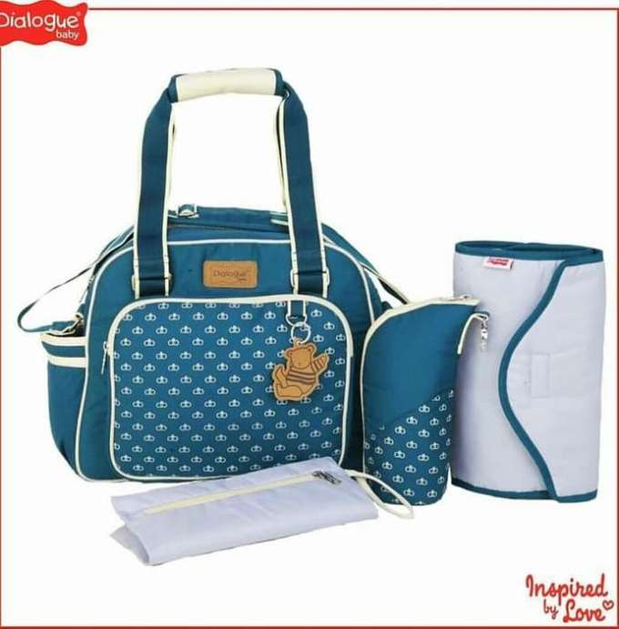 a60f37065d3 DIALOGUE Diaper Bag Set Emerald Series TAS bayi medium EMERALD ...