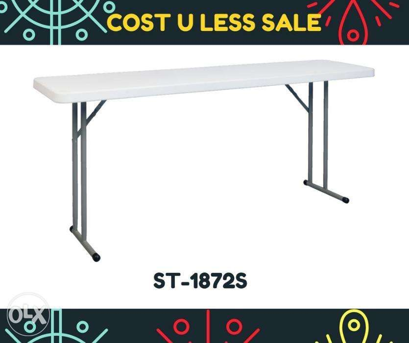 26 Off_6 Ft Solid Top Working Folding Table Office Furniture Carpet
