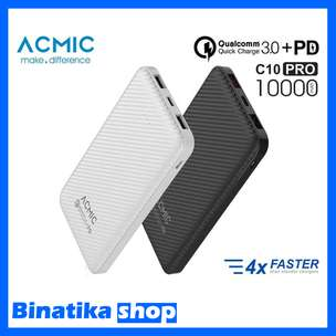Original Power Bank ACMIC C10 PRO 10000mAh Quick Charge 3.0 + PD
