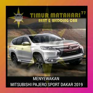 TM 77 rent car, menyewakan Mitsubishi Pajero 2019.