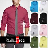 pack of Buy 1 get 1 free Formal Shirt .