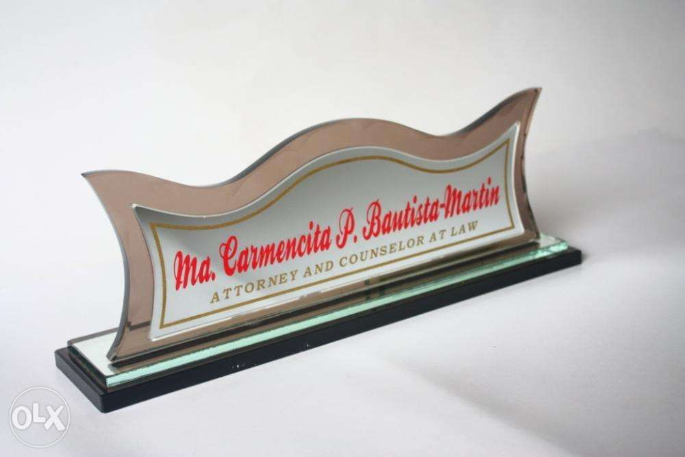 table nameplate we accept rush table sign glass acrylic table bar
