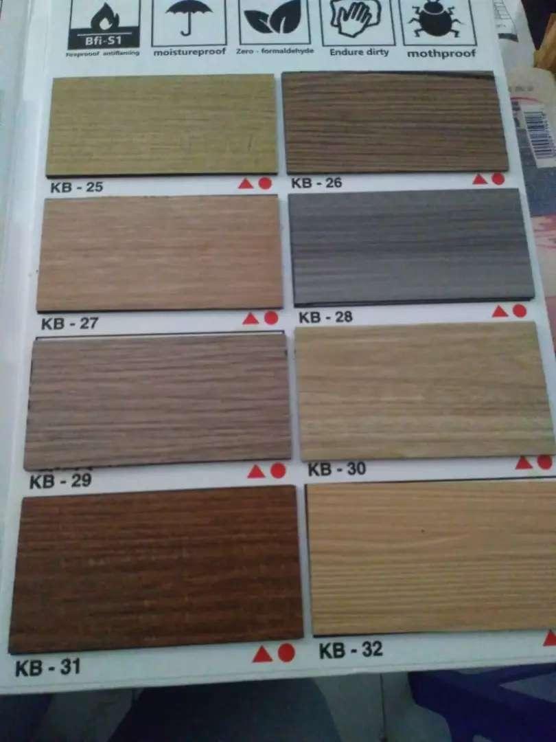 Wallpaper Dinding Hpl Lantai Kayu Vinyl Dekorasi Rumah