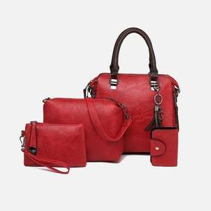 B819624-red Tas Selempang Set 4in1 Terbaru Import
