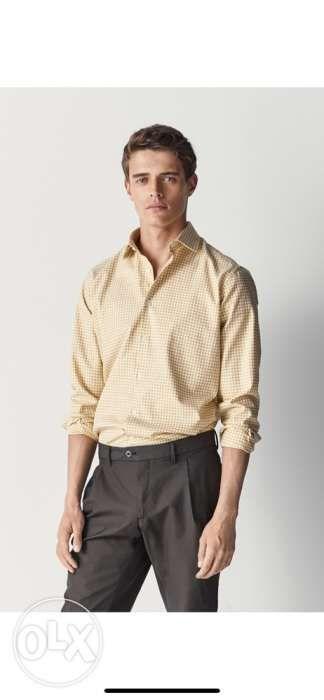 ed4164b75 Super Sale Massimo Dutti Gingham Polo Shirt Long Sleeves Medium in ...