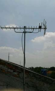 pasang Antena tv HD-19 di Taman mini