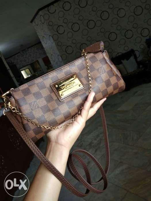 Preloved On Hand LV Damier Ebene Eva Clutch Shoulder Bag in Imus ... b4fc3c0df680f