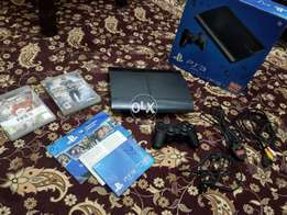 Sony Play Station 3 SuperSlim 500GB in Good Cndition All acesories