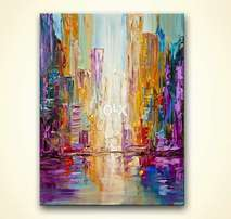Abstract buildings painting