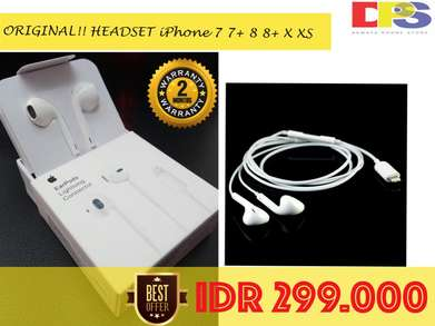ORIGINAL!! HEADSET iPhone 7 7+ 8 8+ X XS Garansi 2 Bulan