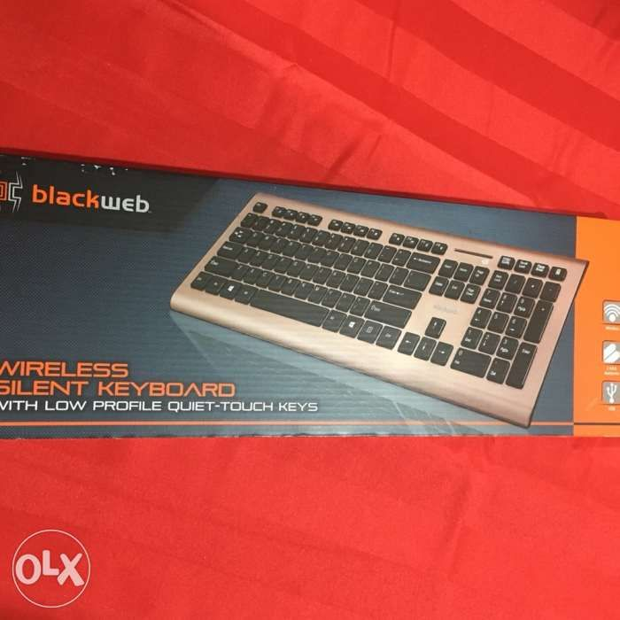 45904d829e6 Blackweb Wireless Silent Keyboard with Low Profile Quiettouch Keys ...