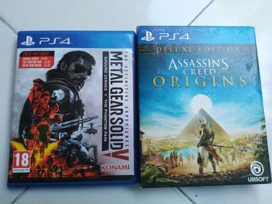 Kaset BD ps4 MGSV The Definitive Experience & AC Origin Deluxe Edition