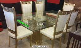 Brand new Dining table with 6 chairs Khawaja's Fix price