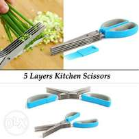 5 Layers Kitchen Scissor With Cleaning Brush