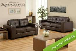 New modern sofa seven seater | imported brown leatheright.
