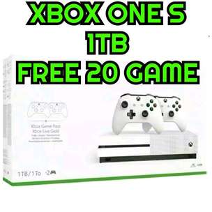 xbox one 1tb 2 stik mesin new