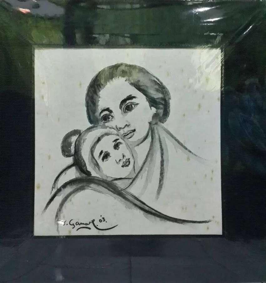 Lukisan Tatang Ganar Ibu Dan Anak Hitam Putih 2003 Dekorasi Rumah 752060448