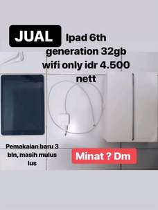Ipad 6th generation 32gb wifi only