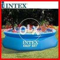 28130 intex (size:12ft/30inc) round above ground easyset swimming set.