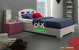 Single Bed with side table KhaWajA's whole sale Outlet